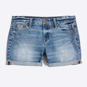 J Crew Cuffed Denim Jean Shorts 29